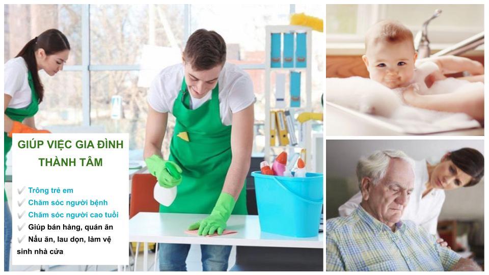 Dịch vụ giúp việc gia đình Thành Tâm cung cấp