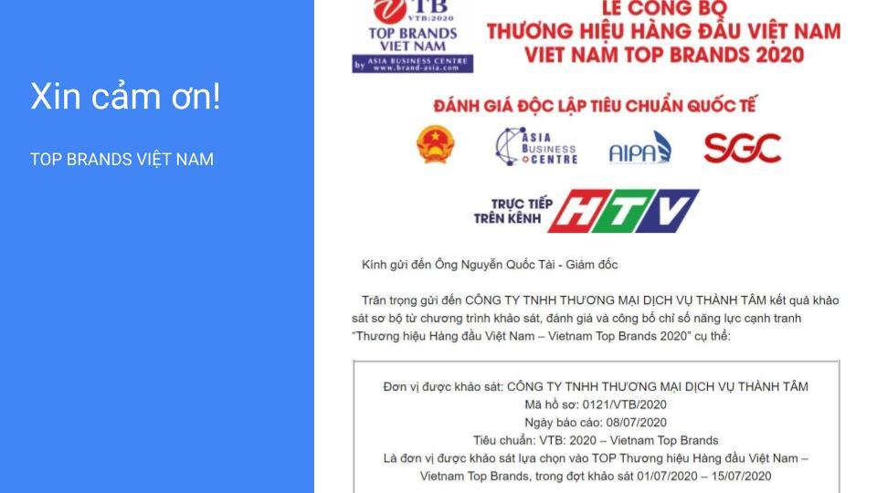 Thư mời sự kiện top thương hiệu uy tín Việt Nam